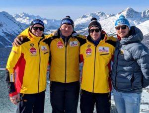 Malte Schwenzfeier, Paul Krenz, Kevin Korona und Eric Franke (v.l.) vom Bobteam Walther